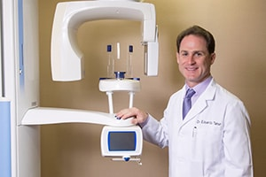 Periodontist with equipment