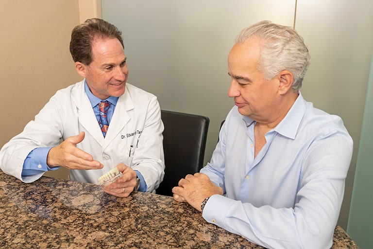 Dallas dentist and implant patient